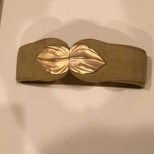 Accessories - Vintage Gold Leaf Belt